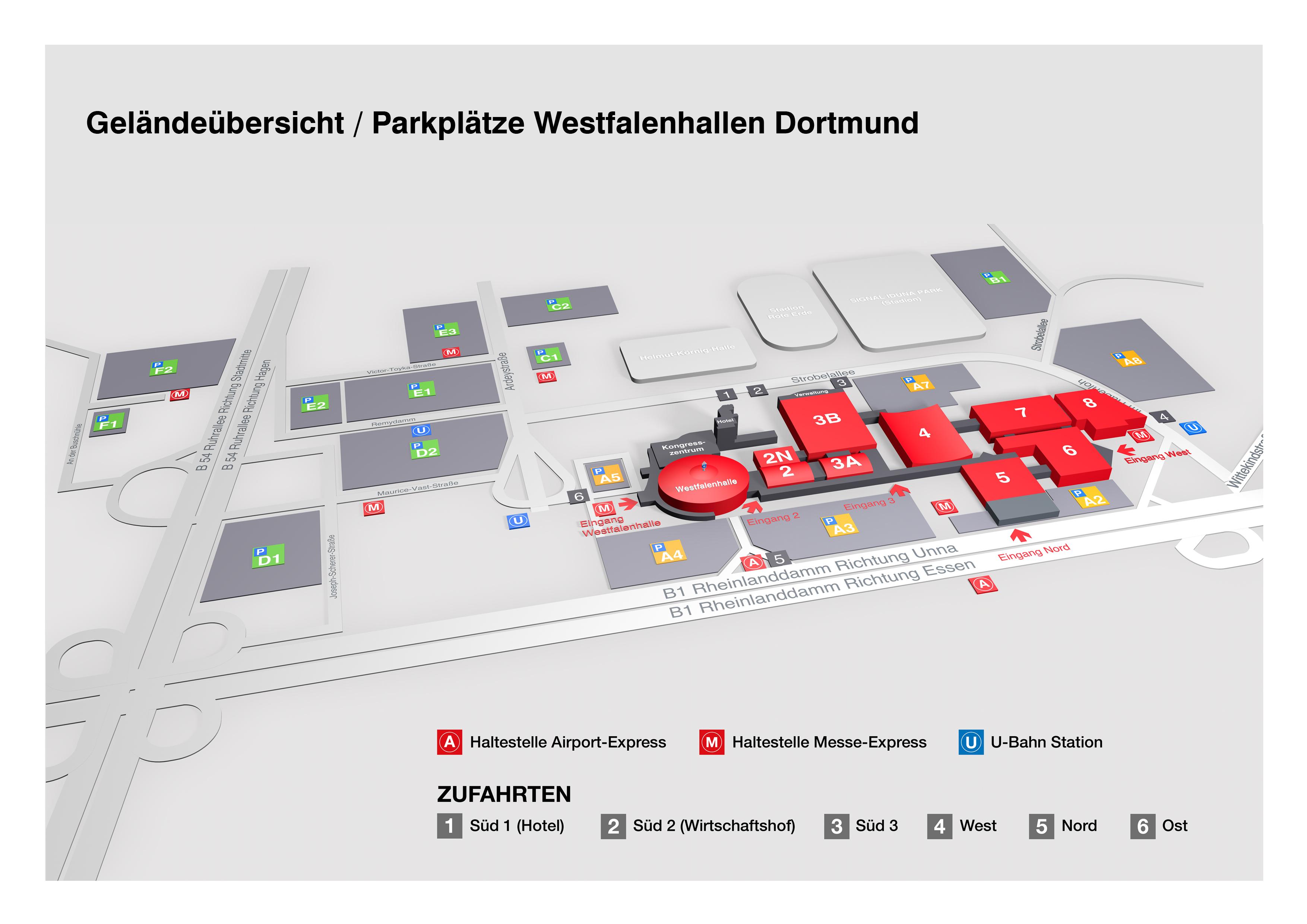 Westfalenhallen Dortmund Gmbh Geländeübersicht