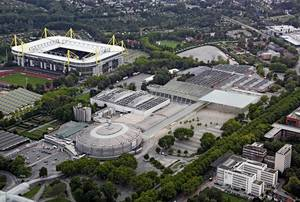 Exhibition grounds from above, after reconstruction, Copyright: HPP Architekten